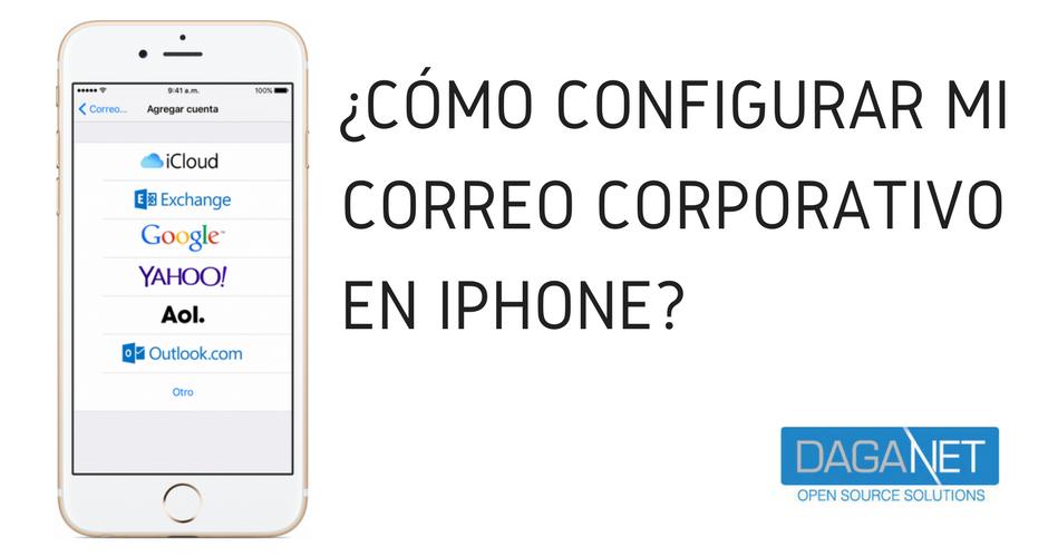 como configurar correos en iphone