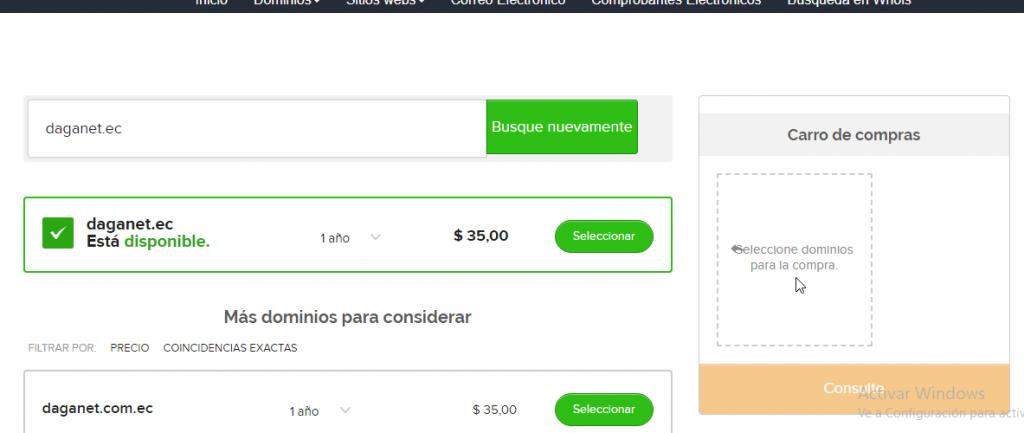 reserva de dominio web ecuador