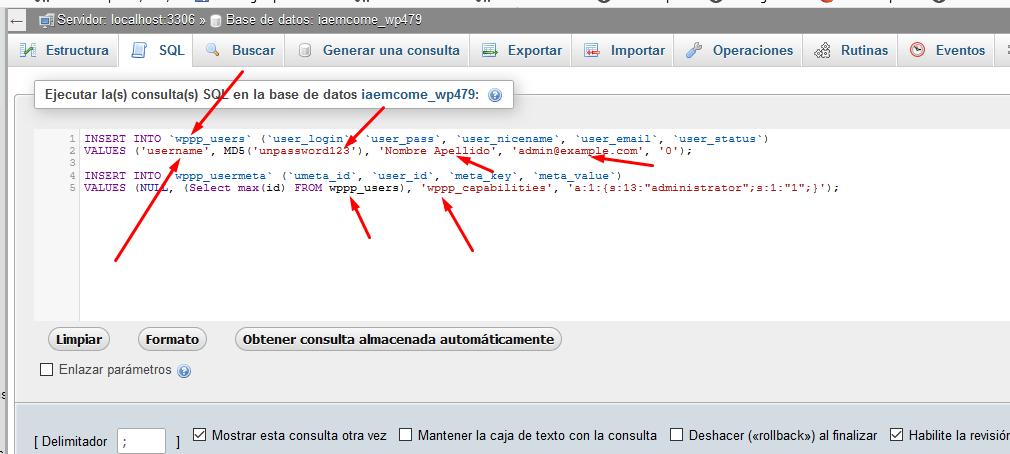Cómo crear una cuenta de administrador de WordPress con MySQL